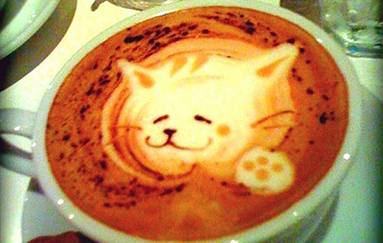 Coffee foam art sparkleshock for Cool coffee designs