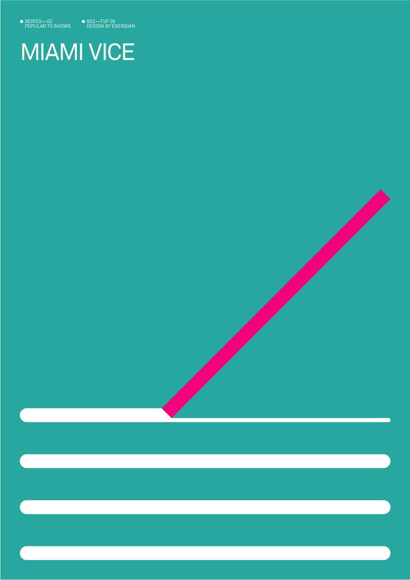 Tv land minimalist tv show posters by exergian for Miami vice pool design